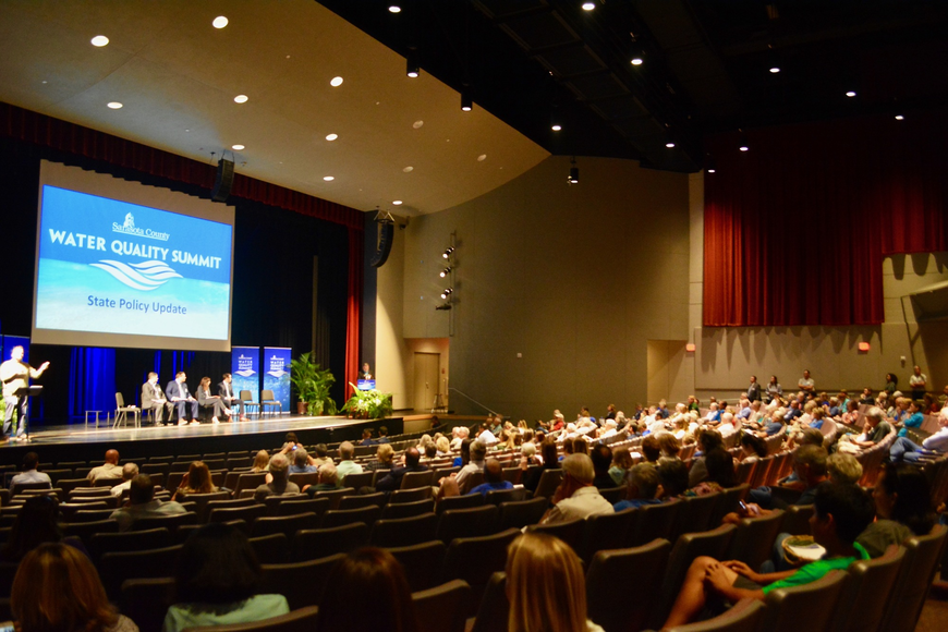 Sarasota County's Water Quality Summit  was held in Riverview High School's auditorium