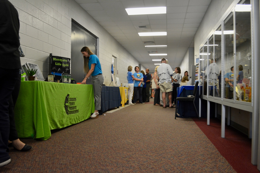 A variety of environmental organizations hosted tables at the end of the summit