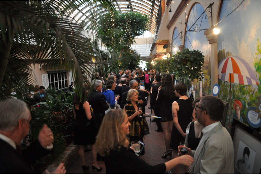 Hundreds of student artists, parents, teachers and sponsors wandered the courtyard to check out the work of the 24 students that were honored at the Evening of Excellence.