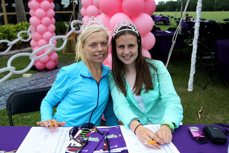 Mandy Riebe and Lizzy Riebe helped to check people in at the event.