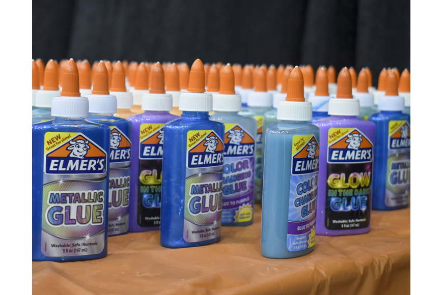 Glue is one of the main ingredients in slime.