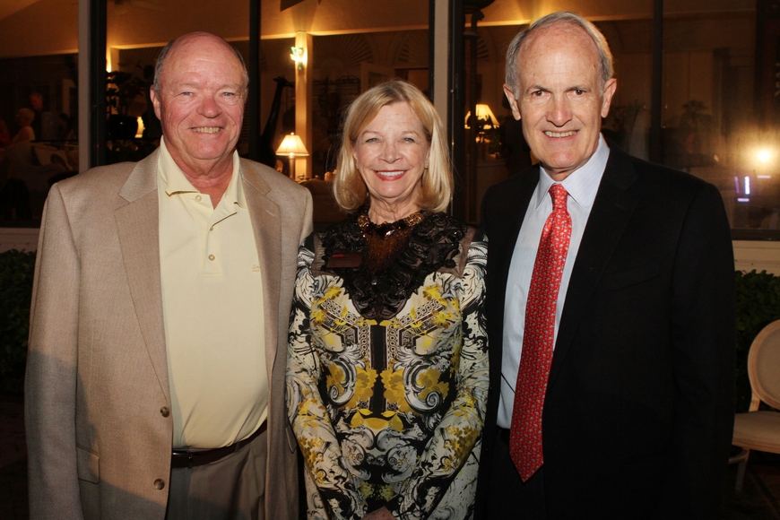 Dennis Dirks with honoree Anne Charters and Tom Charters