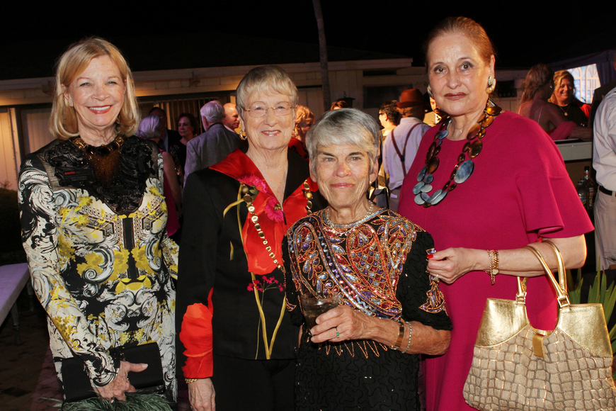 Honoree Ann Charters, Peggy Abt, Mercedita O'Connor and Flora Major