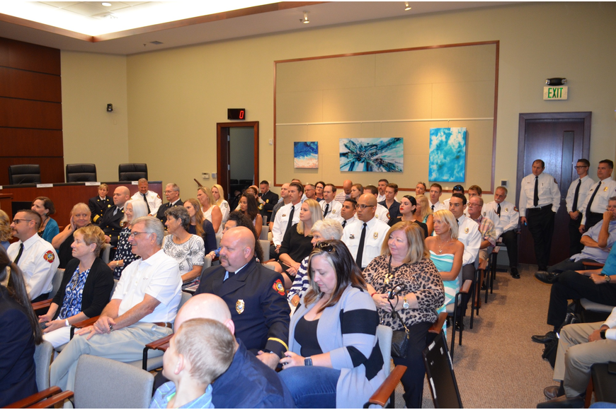 Dozens of people attended the fire department's Medal Day ceremonies at Town Hall on Thursday, Nov. 7.
