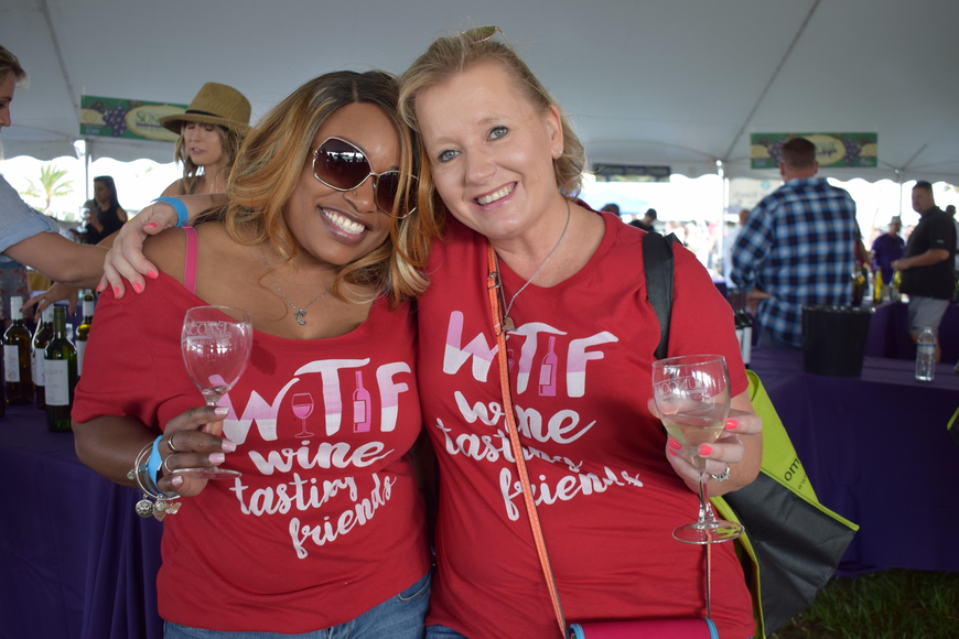 Fort Lauderdale resident Camille Bowens travels to Lakewood Ranch each year to go to the Food and Wine Fest with her best friend Sherry Bauer, of Lakewood Ranch.