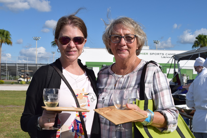 Sarasota resident Kristen McLallen goes to the Food and Wine Fest with her mother, Lakewood Ranch's Sandy Grimes, for the second year in a row. Grimes felt the fest was better this year with more vendors.