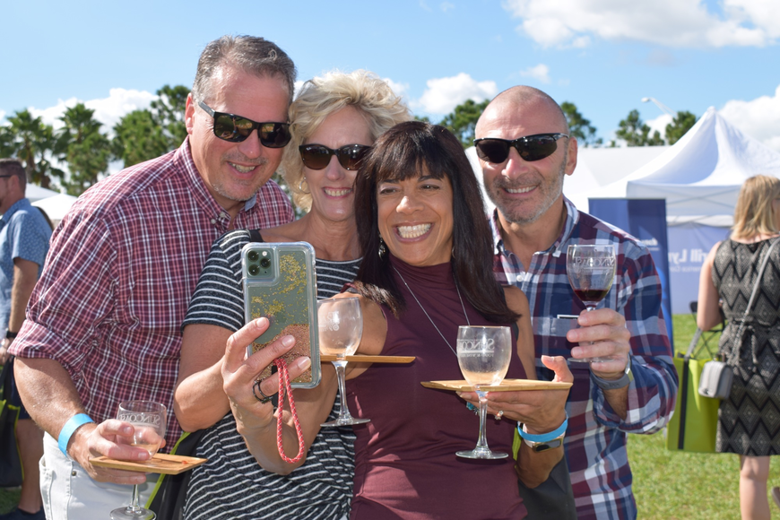 East County residents Chris and Kristen DiBiase and Sharon and Pete Piotrowski take a selfie to commemorate their time at the Suncoast Food and Wine Fest.