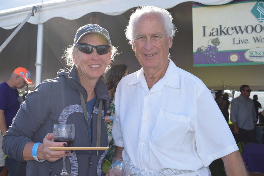 Lakewood Ranch resident Rebecca Patton savors the Food and Wine Fest with her father, Richard, before Richard Patton has to fly home to Toronto.