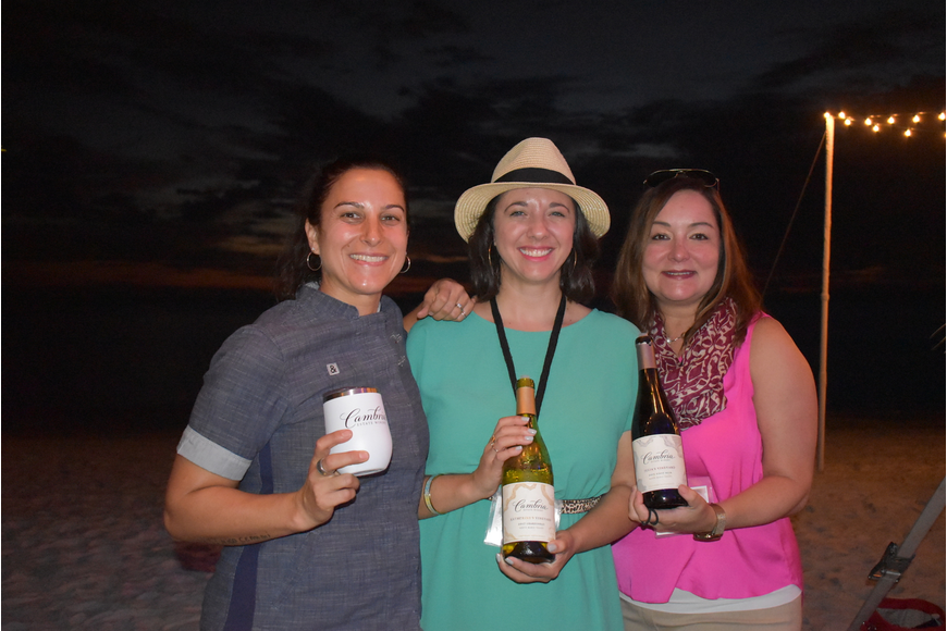 Cambria Winery vendors Tracey Cenary, Michelle Maclean and Lynn Glynn.
