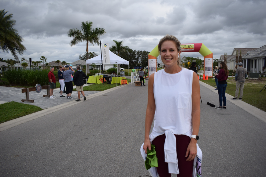 Lakewood Ranch's Caitlin Buchanan was the women's winner of the 5K in the Mindful Triathlon. She ran 24:17.