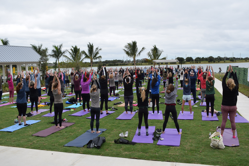 The event included both yoga and meditation sessions following the 5K.
