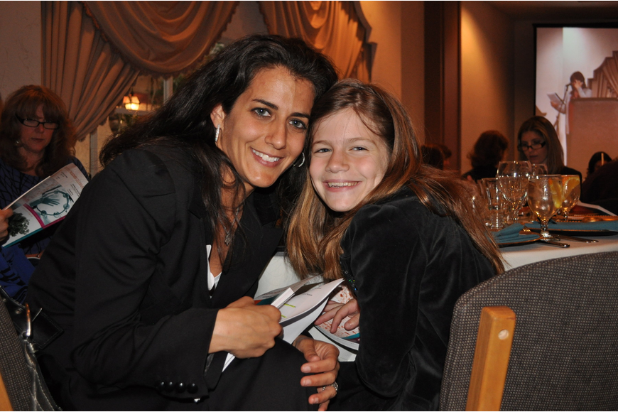 Rachel Saltzberg with her daughter, Jordyn, 8.