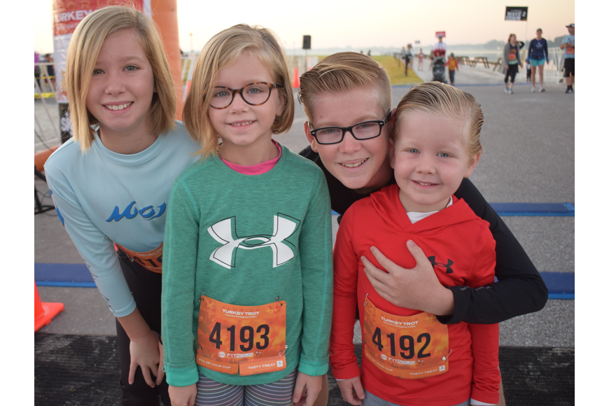 The Morgan kids, 5-year-old Ali, 6-year-old Mia, 11-year-old Brock and 3-year-old Stone all say they are the fastest runners in their family. They were about to find out.