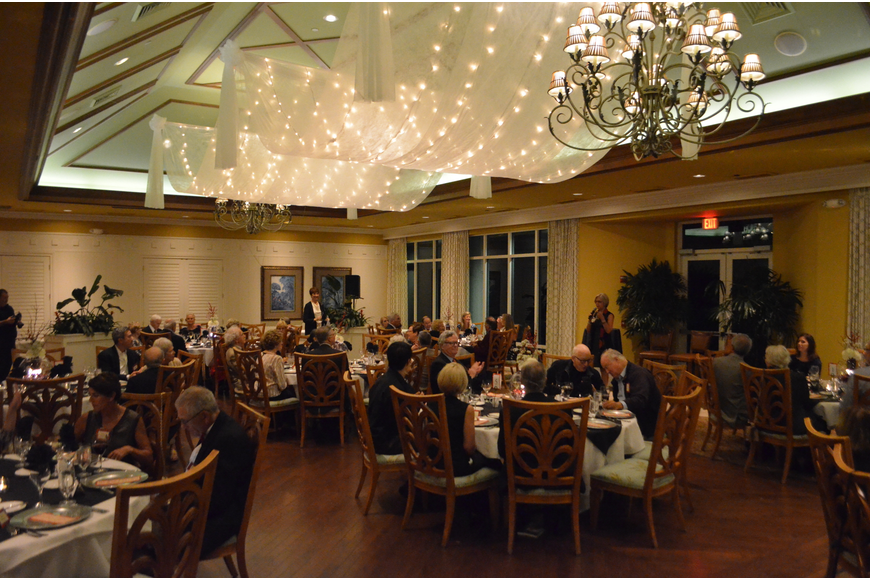 Guests enjoyed the food and drink inside the University Park Country Club while honoring the talents of the upcoming Masterworks 2 concert.