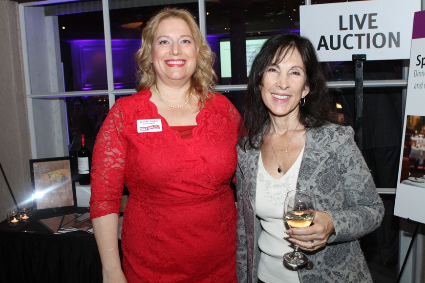 Auctioneer Jenelle Taylor and Debbie Shorey