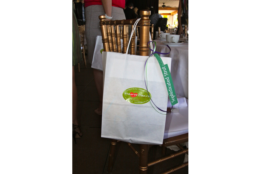 Each person left with a gift bag that was on the back of their chair.