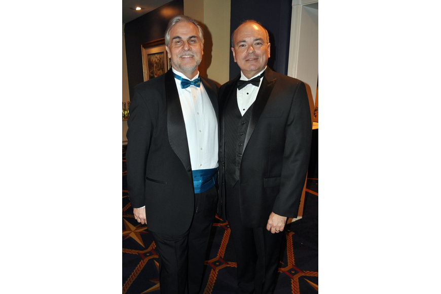 Victor DeRenzi, artistic director of the Sarasota Opera, with Richard Russell, executive director of the Sarasota Opera