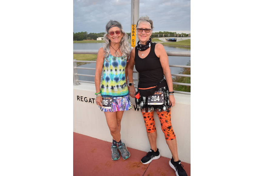 Bradenton's Pamela Wusthof and Maureen Matson were all smiles now that they can run in charity events once again.