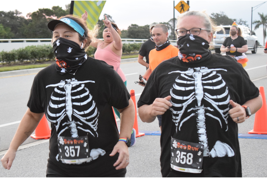 East County's Carmen Sutphen and Janelle Sutphen made no bones about the fact they were happy to be able to compete in benefit races again.