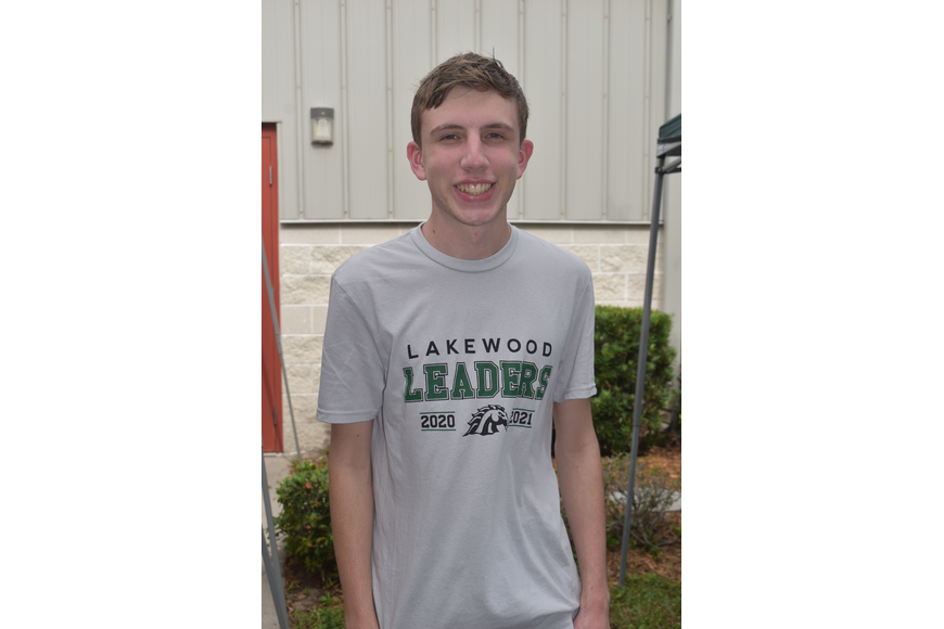 Joshua Holler volunteered at the craft show through Lakewood Leaders. He is a 10th grader at Lakewood Ranch High School.