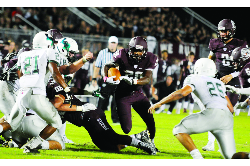 Braden River and Lakewood Ranch High School football teams compete on the gridiron.
