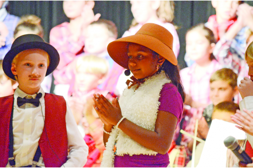 "The holiday season, as always, featured lots of school plays and concerts. Reese Swanson and Khushi Talluru played Mr. and Mrs. Mayor in Willis Elementary's ""Christmas at the OK Corral."""