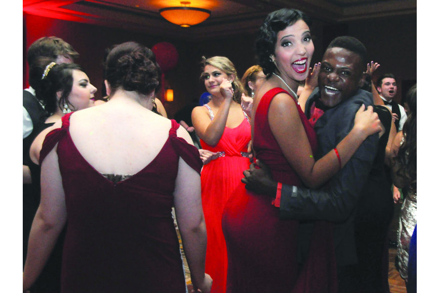 Bella Guzman and Lentz Laurent dance the night away at Lakewood Ranch High's prom