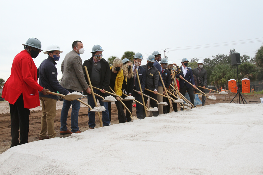 Lofts on Lemon developers and funding partners broke ground together.