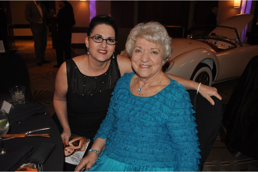 Laurie Diner with her mother Ruth Robinson