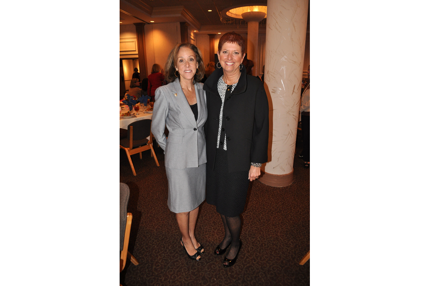 Co-chairwoman Deb Knowles with Gwen MacKenzie, CEO of Sarasota Memorial Hospital