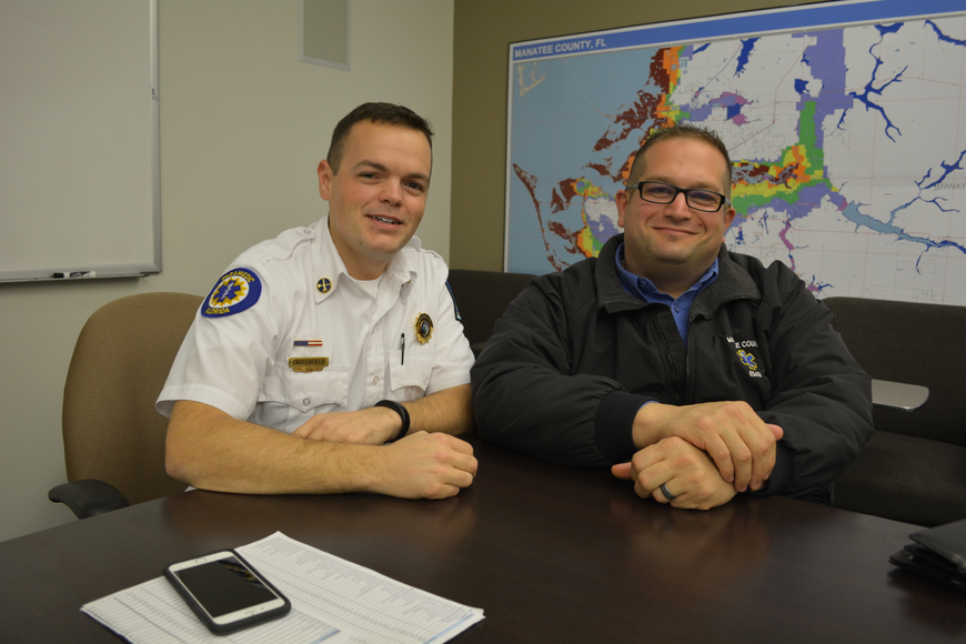 Jimmy Crutchfield and Paul Dicicco, of Manatee County Emergency Medical Services, believe community paramedicine can bridge a gap between patients, healthcare providers and services available.