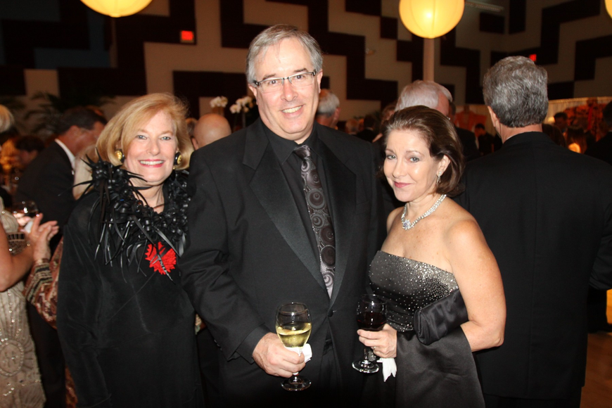 Ellen Berman with Chris and Patricia Caswell