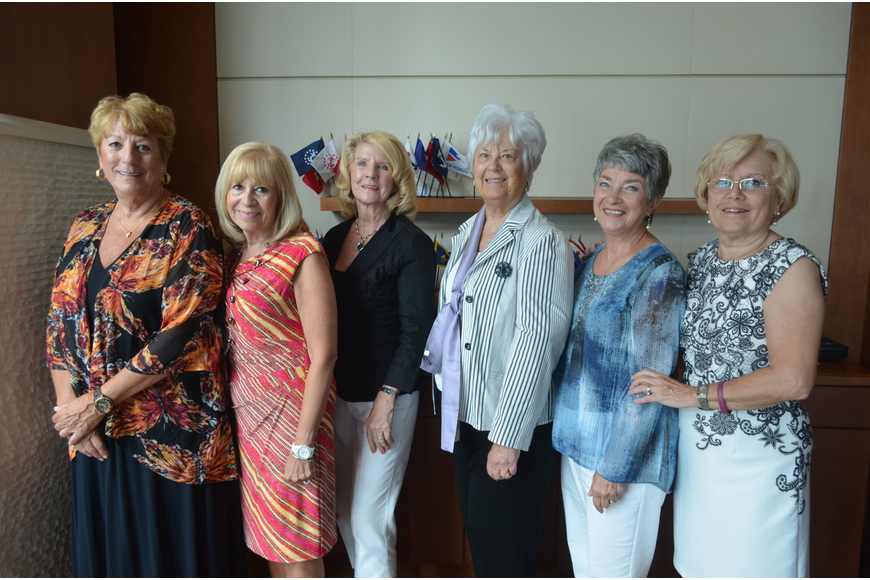 Fashion show planning committee Beth Waldman, Mary Aiello, Barbara Gurchiek, chairwoman Joan Webster, Mary Del Pup and Carol Fischbein