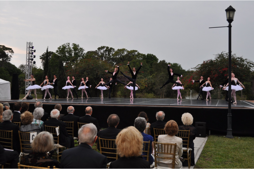 "Dancers in the Sarasota Ballet Company premiere Ricardo Graziano's piece entitled ""Pomp and Circumstance""."