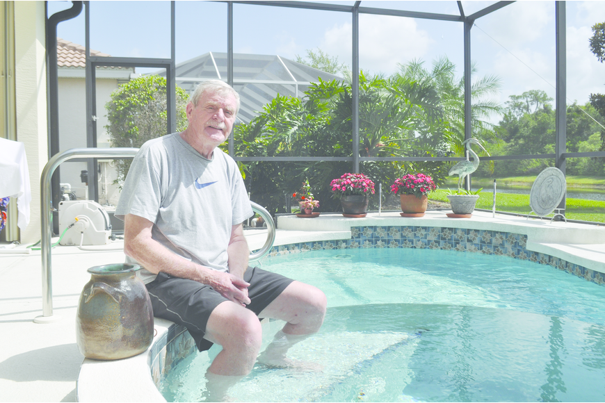 Bob Bolcik hasn't had to make repairs on his solar pool heating system since it was installed eight years ago.
