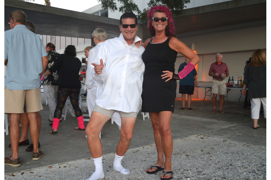 Tim Farley and Siesta Key Chamber of Commerce Executive Director Ann Frescura.