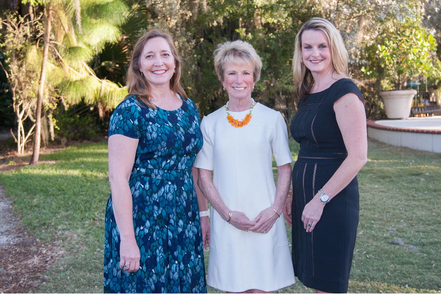Conservation Foundation President Christine Johnson and Board Chair Eileen Scudder-Zimmermann pose with Volunteer of the Year Alyssa Nohren.