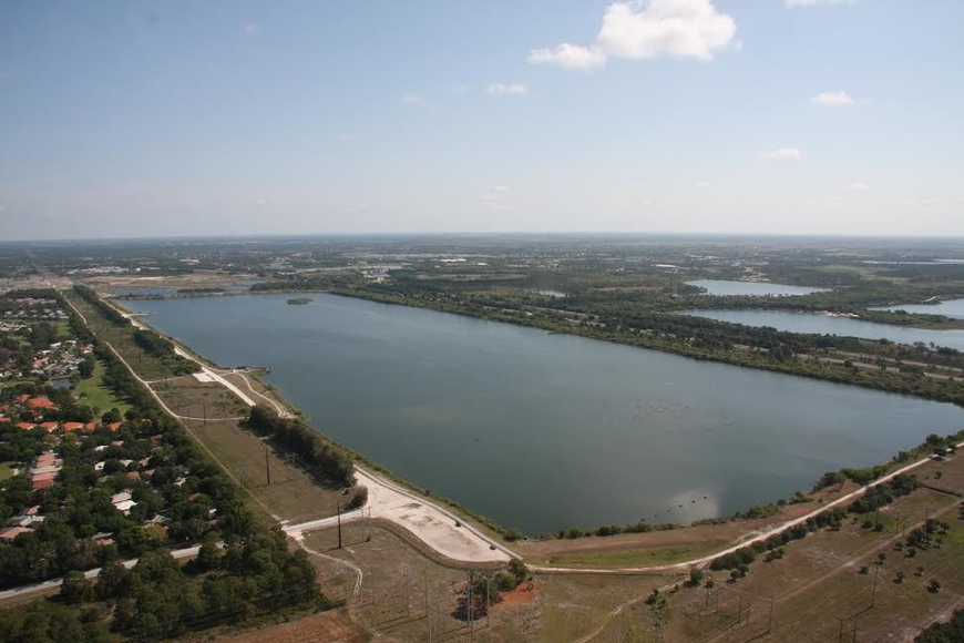 Aerial photo of Nathan Benderson Park.