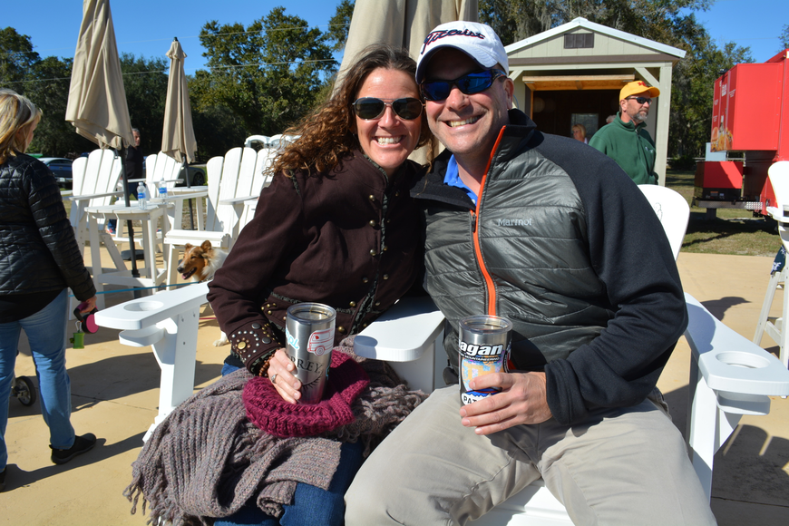 Heather Perry and Andrew Young, of Tampa, regularly come  to matches.
