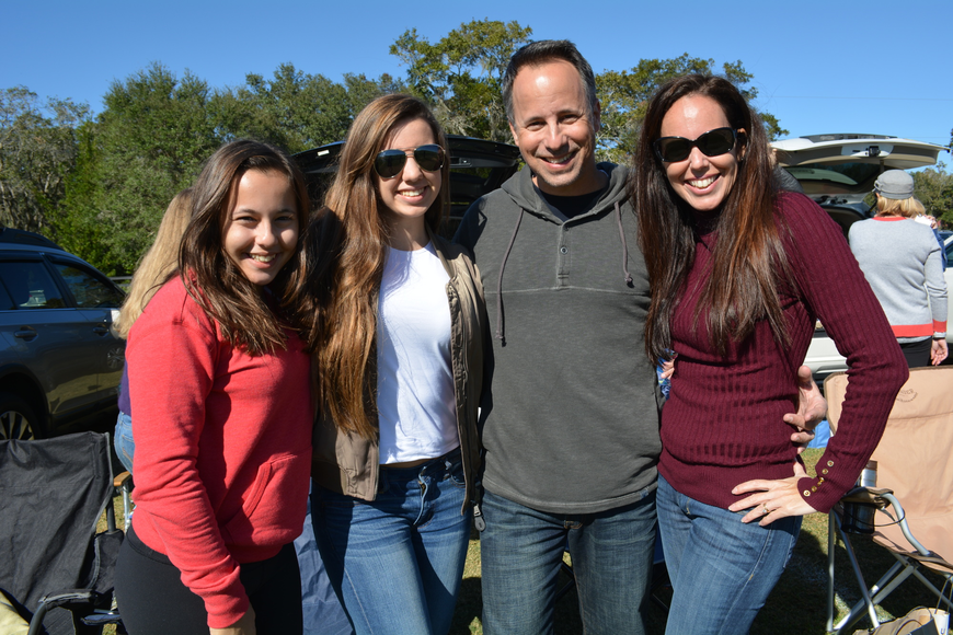 Lauren, Rachel, Dean and Stephanie Consiglio, of Greenbrook, enjoy the beautiful weather and time as a family.