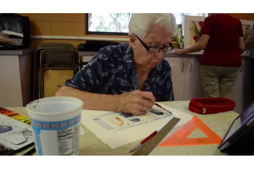 Every Thursday, members of the St. Boniface Episcopal Church Watercolor group on Siesta Key bond over a mutual love of painting.