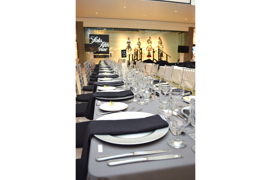 VIP ticket holders enjoyed a sit-down dinner before the show on Feb. 19 at Saks Fifth Avenue.