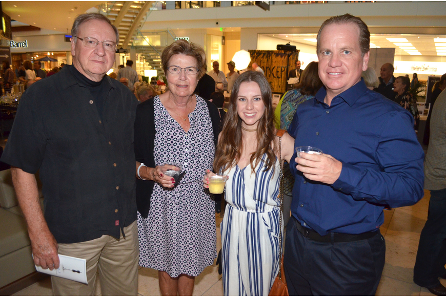 David and Barrie Heiligman with Kayla Branch and her father, Daniel Branch
