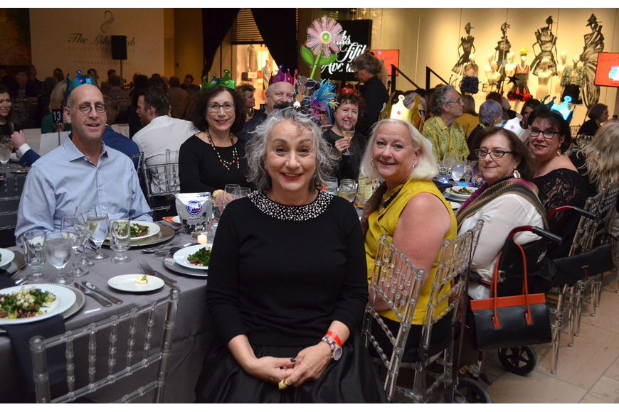 Designer Andrea made her friends and family who came to support her special hats that included materials from her runway outfit.