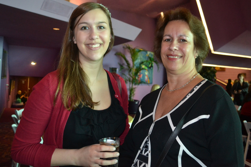 Sydney Goldstein's granddaughter Jordan Acuff and her mom Amy Gerome from Atlanta