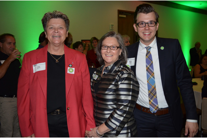 Honoree Cindy Barnes, Co-Chair Maria Foote and Michael Farmer