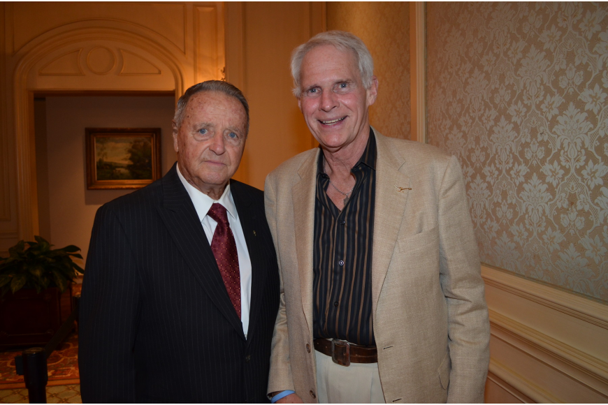 Former Florida State University and Hall of Fame football coach Bobby Bowden with Ken Kaucheck