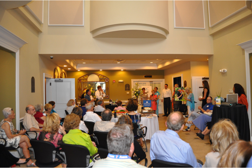 The Community Foundation of Sarasota's lobby was filled to the max.