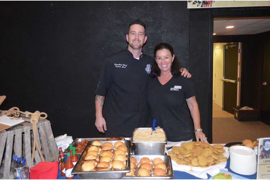 Director of Marketing Liza Kubik and Executive Chef Gerard Jesse, of Seafood Shack