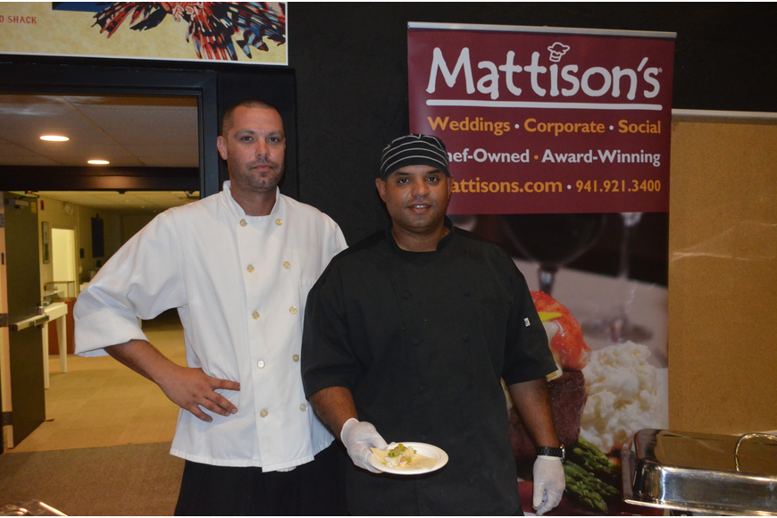 Catering chef Vinny Savadel and Executive Chef Alex Vazquez, of Mattison's